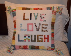 Almofada Live Love Laugh 48x48cm