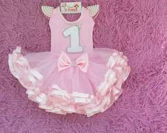 Kit Tutu Bailarina + Body Customizado