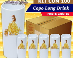 Copo Long Drink - Bella e a Fera