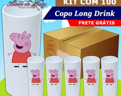Copo Long Drink - Peppa Pig