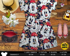 Dress Shirt fem. estampa Mickey Floral