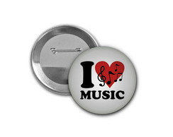 Botton I Love Music - 4,5cm