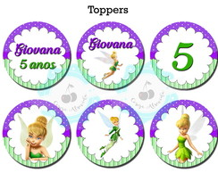 Topper p/ doces Tinker Bell