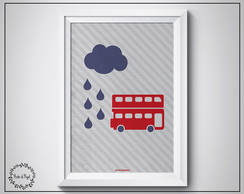 Poster London Bus