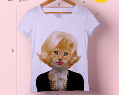 T-shirt feminina Marilyn Cat