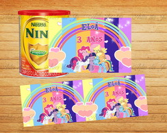 Rótulo Lata de Leite 800g My Little Pony