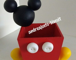 CACHEPOS DO MICKEY DE BISCUIT( 10x10)