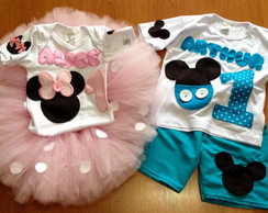 Conjunto Mickey e Minnie