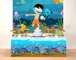 KIT PARA FESTA INFANTIL FUNDO DO MAR