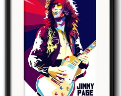 Quadro Jimmy Page Pop Art com Paspatur