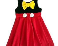 Vestido longo mickey vermelho