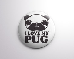 Botton - I love my pug