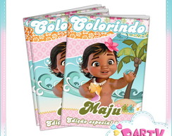 Revista colorir Moana Baby