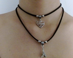 Gargantilha Chocker My love Paris