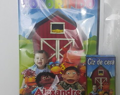 kit de colorir cocorico