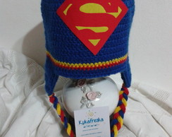 Touca de Croche Infantil Superman