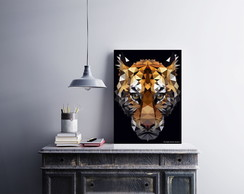"Placa decorativa ""Tiger Poligon"""