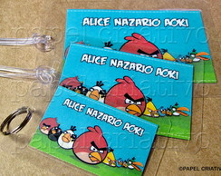 Kit 3 Bagtags - ANGRY BIRDS