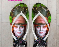 Chinelo Infantil Alice Personalizado