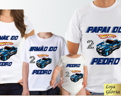 KIT CAMISETA PERSONALIZADA HOT WHEELSC/4