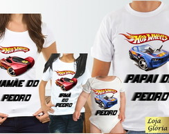 KIT CAMISETA PERSONALIZADA HOT WHEELS C/4