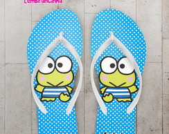 Chinelo Infantil Hello Kitty Azul
