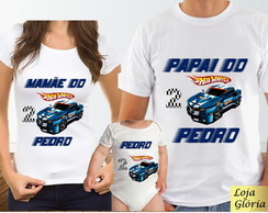 KIT CAMISETA PERSONALIZADA HOT WHEELS C/3