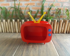 Mini TV decorativa