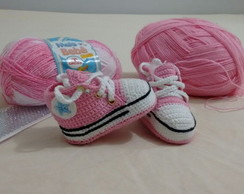 All Star Baby Converse Crochê