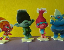 Painéis de mesa do Trolls 4 personagens