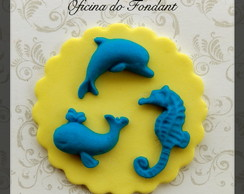 Fundo do mar aplique para cupcakes