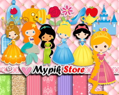 Kit Digital Princesas Scrapbook - 01