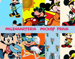 Kit digital mickey Praia