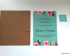 Convite Offset + TAG + Envelope Kraft