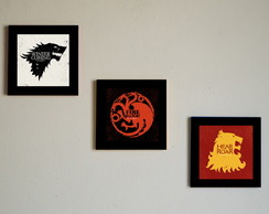 Kit quadros Game of Thrones mdf
