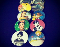 Kit (8) Buttons: Personagens