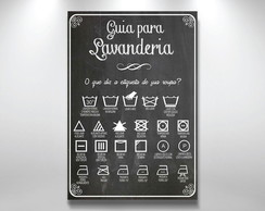 Placa Decorativa 40x29 Lavanderia