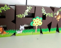 Letras 3D Safari