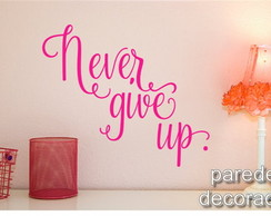 Adesivo Frase Never Give Up