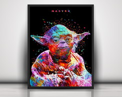 Poster Colorful Yoda