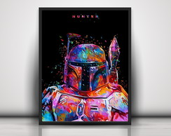 Poster Colorful Boba Fett
