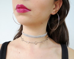 Mix de chokers e Argola - Amelie
