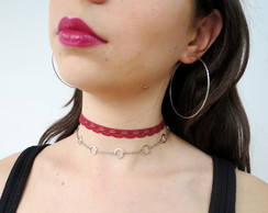 Mix de chokers e Argola - Nay