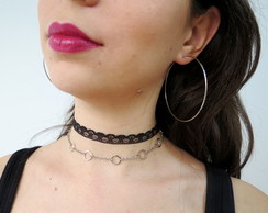 Mix de chokers e Argola - Nay II