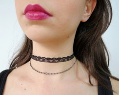 Duo chokers - Nay e bolinhas