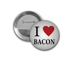 Botton I Love Bacon - 4,5cm