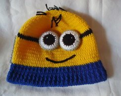 Gorro de Croche Minion Adulto