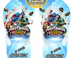 Chinelo Personalizado Power Rangers !
