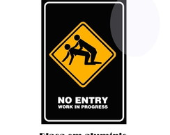 Placa de Decorativa - No Entry