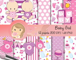 Kit papel Digital Scrapbook BABY GIRL